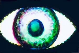 Augenlicht o. T. Glasbild zur Projektion