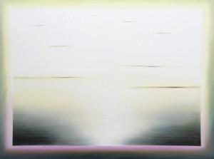 Lichtspur Schwarz über Cyclam/Grün