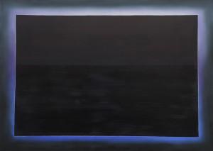 Lichtspur Schwarz über Schwarz (Eclipse)